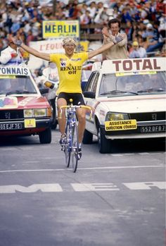 Laurent Fignon won on the Alpe in 1983, 1984, & 1989