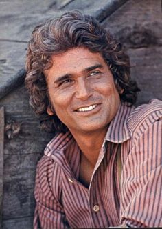 """Michael Landon October 1936 - July So talented and handsome. I will always remember his 'laugh"""". Loved """"Little House on the Prairie"""" and """"Highway to Heaven"""" series. Michael Landon, Jorge Diaz, Beautiful Men, Beautiful People, Tyrone Power, Errol Flynn, Laura Ingalls, Humphrey Bogart, Shows"""