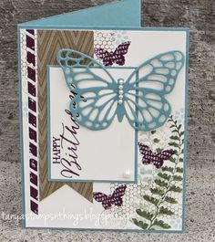 Tanya's Stamps & Things: Birthday 2, Butterfly Basics, Big Shot, Banners Die, Butterflies Die