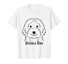 Doodle Dad Love cute puppy Design T-Shirt One in a Melon Dog Lover Gifts, Dog Lovers, Personalised Christmas Presents, One In A Melon, Presents For Men, Goldendoodle, Shirt Price, Happy Dogs, Branded T Shirts