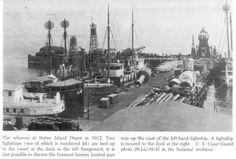 Wharves at SI Depot 1912