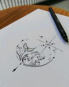 Best 11 fishman mandala tattoo design by Benz.Com Best 11 fishman mandala tattoo design by Benz. Mandala Tattoo Design, Neue Tattoos, Body Art Tattoos, Tattoo Drawings, Trendy Tattoos, Small Tattoos, Sextant Tattoo, Tattoo Painting, Watercolor Tattoo