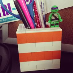 Built this for my office desk. #LEGO