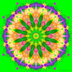 Мандала для пробуждения энергии природы, весны, радости