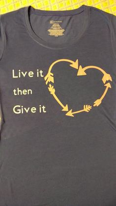 Live it then Give it Organ Donation Shirt by baloveDesigns on Etsy
