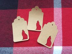 Die Cut Coyote Tag by NatureCuts on Etsy