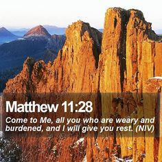 Matthew 11:28 Come to Me, all you who are weary and burdened, and I will give you rest. (NIV)  #Powerful #Faith #Grace #Deliverer #YouthMinistry #WordOfGod http://www.bible-sms.com/