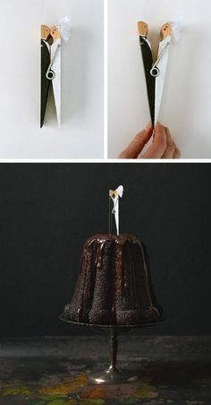 #trouwen #diy #creatief Found on: Oh Crafts (http://www.ohcrafts.net/wedding-kissing-clothespin-topper.php) - Pinterested @ http://wedspiration.com.