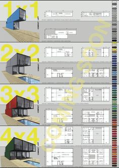 Container house' floor plan