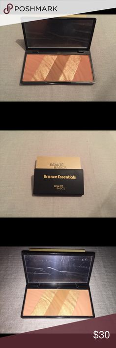Bronzer This is a BRAND NEW, NEVER USED bronzer. It has a light to medium shade, with highlight in between. VERY pigmented! Beaute Basics Makeup Bronzer