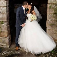 We just love this photo of Real bride Lisa in the stunning 'Velez' by Viva Bride  She looks sensational! Could this be your dream dress?  www.wed2b.co.uk