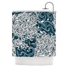 Found it at Wayfair - Celtic Floral II Shower Curtain