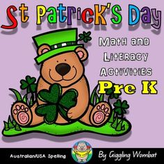 St Patricks Day Math and Literacy Activities Pre KTHIS PACK INCLUDES35 NO-PREP ST PATRICKS DAY PRINTABLE WORKSHEETS (fine motor activities)- Use these printable worksheets as morning work or independent work throughout the day. Patterns, tracing, scissor skills, letter g, l,  s, h, p and r, cut and paste, color matching, left and right, sorting and measurement.ST PATRICKS DAY SHADOW MATCHING - Shadow matching games help children notice a specific element of a picture.