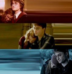 True friendship (if this was supposed to be a Harmony pic, oh well because I ship Romione. I just love Harry and Hermione's friendship)