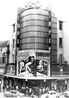"""Summer of opening at Cinema """"Empire"""": """"HARLOW"""" featuring Carroll Baker! Cinema """"Empire"""" was demolished in the early for the Solidere project. Empire Movie, Lebanese Civil War, Asian History, British History, Beirut Lebanon, Cool Countries, Historical Pictures, Heaven On Earth, Old Pictures"""