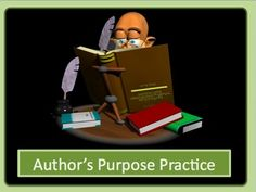 This 26 slide interactive powerpoint takes the three parts of Author's purpose: to inform, to entertain, and to persuade and turns them into a fun ...