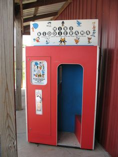 Kiddierama cartoon booth, early 1970's to early 1980's. At Zayre or K-Mart my sisters and I would sit and watch while our mom shopped.