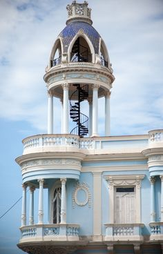 Post with photos of Cienfuegos, Cuba, including Palacio Ferrer