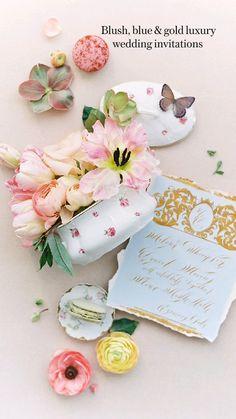 Blush Wedding Stationery, Destination Wedding Invitations, Wedding Invitation Suite, Blush Pink Weddings, Romantic Weddings, Elegant Wedding, Pink Tone, Italy Wedding, Luxury Living