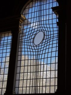 Unique Warped Window at London's Church of St. Martin