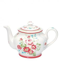 Buy GreenGate Stoneware Teapot Camille White Online At Occa-Home