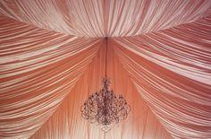 Peach fabric ceiling