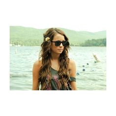 Girl With Curly Brown Hair And Green Eyes Tumblr fashionplaceface.com via Polyvore featuring beauty products