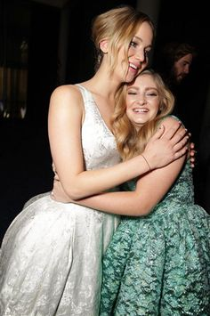 Willow Shields and Jennifer Lawrence at the Mockingjay Part 1 LA Premiere