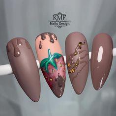 Fruit Nail Designs, Acrylic Nail Designs, Nail Art Designs, Plaid Nails, Swag Nails, Aqua Nails, Gel Nails, Rose Nail Art, Floral Nail Art