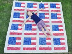 American Flag Quilt - free tutorial!