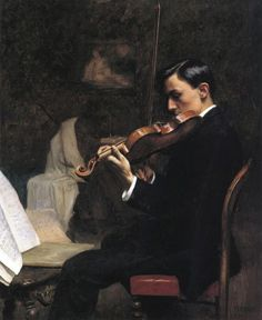 Stephen Seymour Thomas (1868-1956), The Violin Student, Paris - 1891