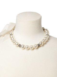 Dessy Faux Pearl Bridal Necklace Bridesmaid Accessory | Weddington Way