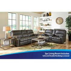Woodhaven 2pc Liberty Sofa and Motion Loveseat