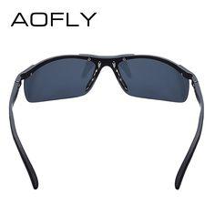 Men's Aluminum Magnesium Polarized Sunglasses HD Polaroid Shades With Case - Sunglasses