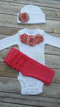 Baby Girl Take Home Outfit Newborn Outfit by BiancaBellaBoutique