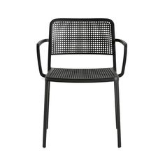Audrey+Chair+with+armrest,+Black,+Kartell