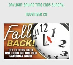 Daylight Saving Time Ends, Daylight Savings Time, Fall Back, Learning Environments, Summer Time, Summer Schedule