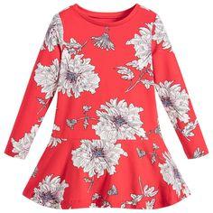 Joules Girls Red Floral 'Josie' Dress at Childrensalon.com