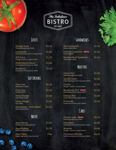 Free InDesign Template of the Month: Restaurant Menu