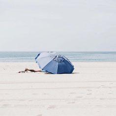 at the beach Blue Beach, Summer Beach, Summer Fun, Summer Breeze, Summer Vibes, Parasols, I Love The Beach, Beach Umbrella, Blue Umbrella