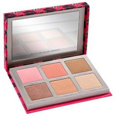 Getting ready for an especially late, sin-filled night? With a little of our long-wearing blush and highlighter, you're good to go until dawn. Enter our Sin Afterglow face palette. Urban Decay Makeup, Urban Decay Sin, Urban Decay Afterglow, Mascara, Eyeliner, Eyeshadow, Face Palette, Eye Makeup, Liquid Makeup