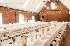 A gorgeous reception at The Great Room at Top of the Hill in Chapel Hill, NC | www.SouthernBrideandGroom.com
