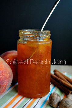 "Spiced Peach Jam | www.you-made-that.com @Suzanne, with a ""z""., with a ""z"". 