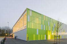 Sports Hall by Slangen + Koenis Architects (Rietlanden, Países Bajos) #architecture