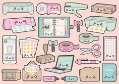 Premium Vector Clipart Kawaii Planning by LookLookPrettyPaper