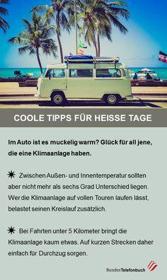 Coole Tipps für heisse Tage - Im Auto unterwegs