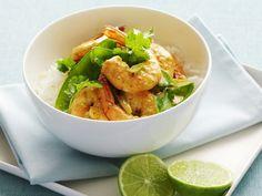 Rotes Garnelen-Curry mit Zuckerschoten