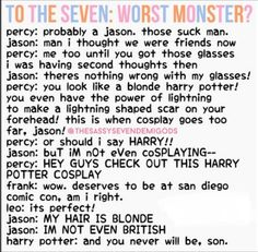 Two of my brothers sassing Jason. DREAMS CAN COME TRUE! Jason: Seriously? Harry and Percy: Shut it superman.