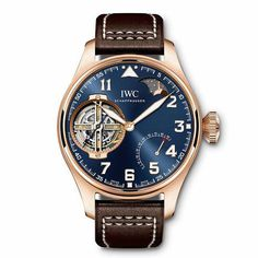 "IWC Big Pilot's Watch Constant-Force Tourbillon Edition ""Le Petit Prince"" ref 590303 Patek Philippe, Casual Watches, Watches For Men, Nice Watches, Gold Watches, Elegant Watches, Sport Watches, Datejust Rolex, Silver Pocket Watch"