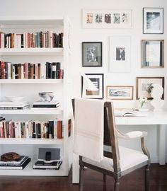 the power of white, love the clean lines of this look, this is where I want my studio to get eventually